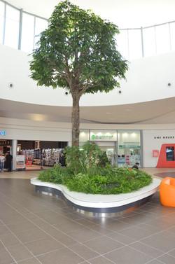 Jardinière de centre commercial