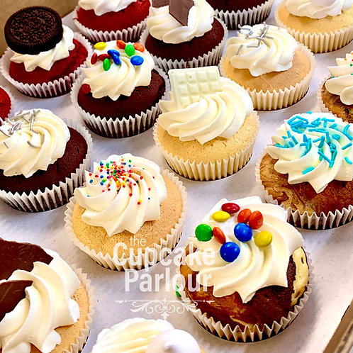 48 Pack - Traditional Cupcakes with Assorted Toppings