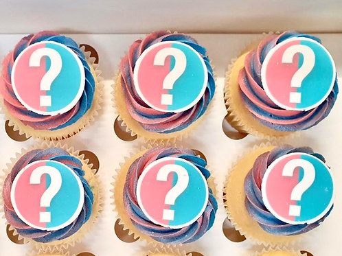 Gender reveal question mark style