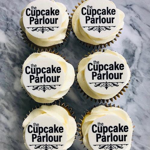 100 Pack - Branded Logo Regular Sized Cupcakes
