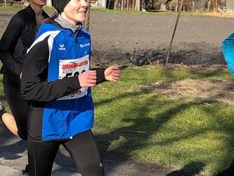 Jana  Frick mit guter Laufzeit an der Lustenauer Crosslaufserie