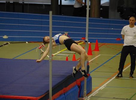 Julia Rohrer vom LC Schaan an der Hallen-Nachwuchs-Schweizermeisterschaft