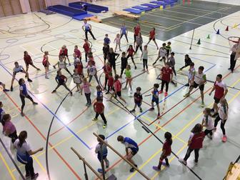 Training der LLV-Vereine für den UBS Team Wettkampf