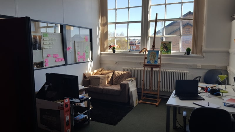 The office of Many Cats Studios