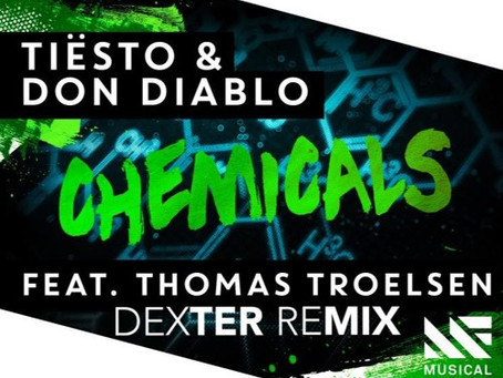Track: Chemicals ft. Thomas Troelsen (Dexter Remix)   Artist: Tiësto & Don Diablo