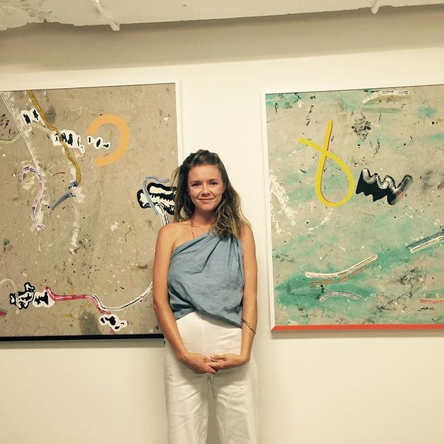 A very happy Emma Finneran, her _artincubator show at _chalkhorsegallery sold out in 20 minutes! _fi