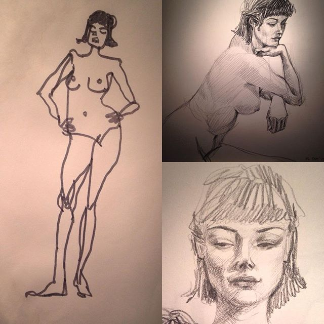 Figure drawing tonight!! Our model was exquisite..