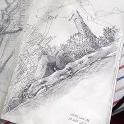 Drawing at the lake #handdrawing #lifesketch #sketch