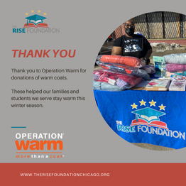 Thank You Operation Warm for Donations