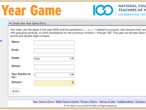 The Year Game from NCTM
