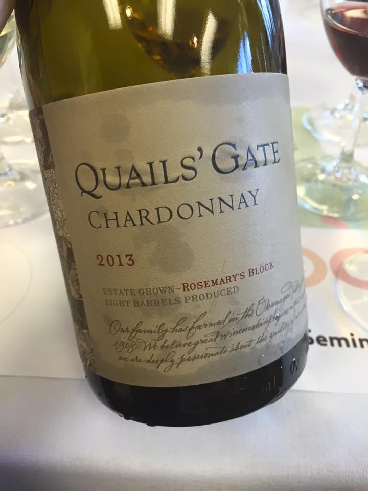 Quails' Gate Chardonnay - Rosemary's