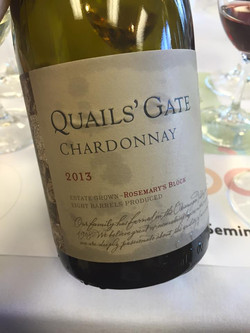 Quails' Gate Chardonnay - Rosemary's