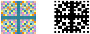 Colored Vedic Squares