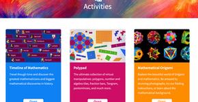 Activities Section of Mathigon