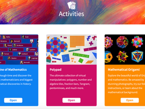 Activities Section of Mathigon