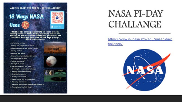 Nasa's Pi Day Challange