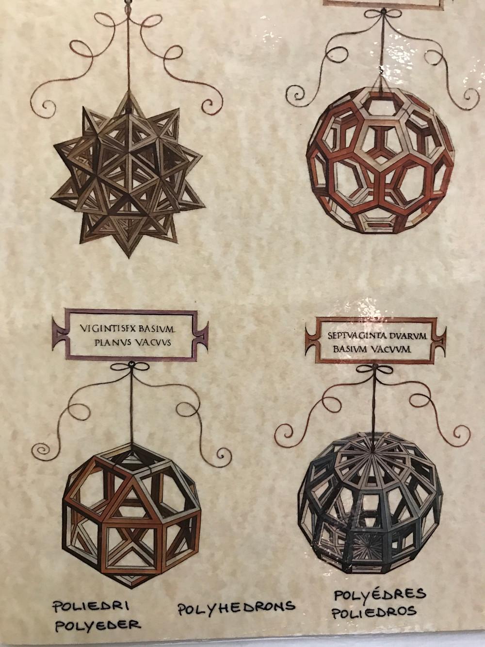 Skeleton polyhedra by Leonardo Da Vinci