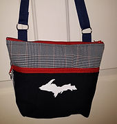 Purse with the upper peninsula of Michigan