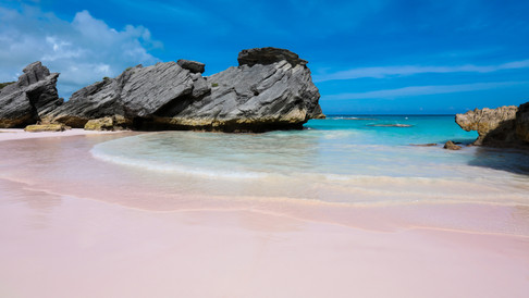 Bermuda Pink drone photography