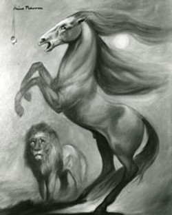 Nino---Horse-and-Lion---Black-and-White-