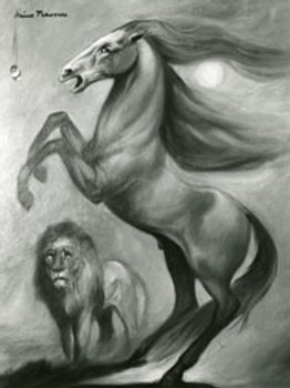 Horse and Lion - Stampa sul Tela