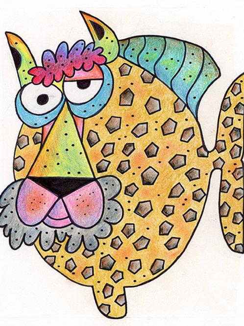 Cheetah Fish Cartoon/Illustration