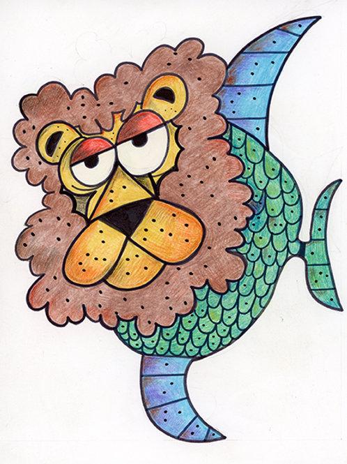 Lion Fish Cartoon/Illustration