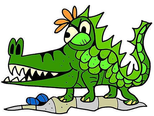 Alligator Cartoon/Illustration