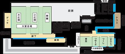野々庵の店内マップ