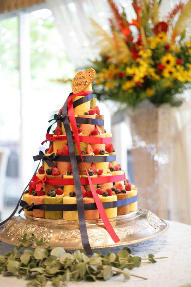 ぶどうの樹の手作りウェディングケーキ