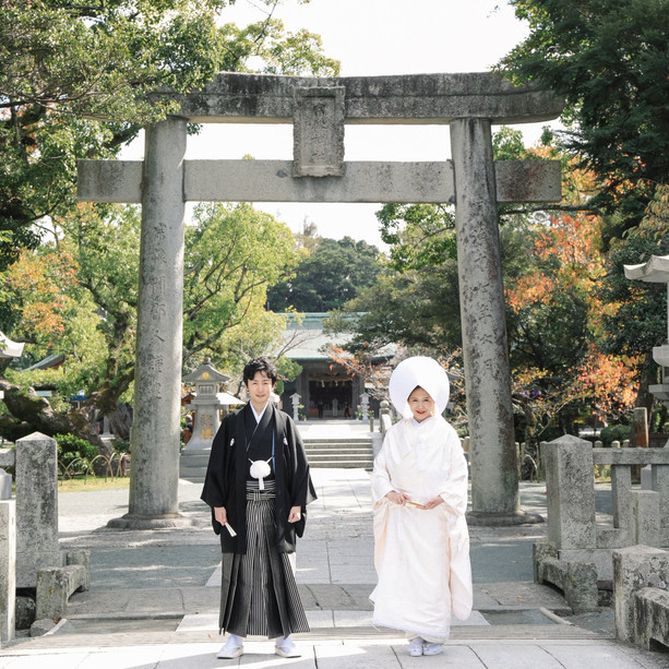 ぶどうの樹ウェディング 神社撮影