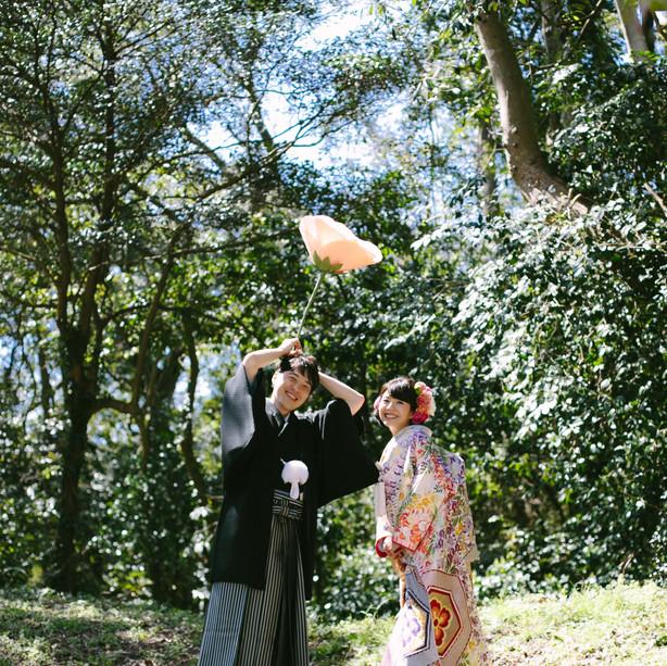 ぶどうの樹 和のウェディング 「野々庵」にて 前撮り撮影