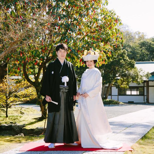 ぶどうの樹 和のウェディング 神社撮影