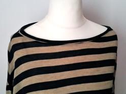 Striped maxi t-shirt