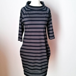 Striped raglan dress
