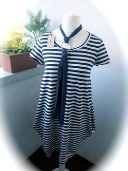 every day dress - pockes - stripes