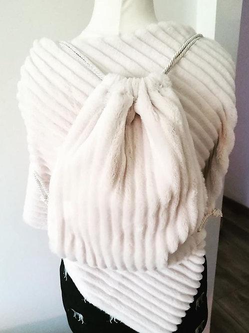 Drawstring bag - Sacchetto in ecopelliccia