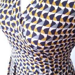 incrocio legato dietro giallo blu