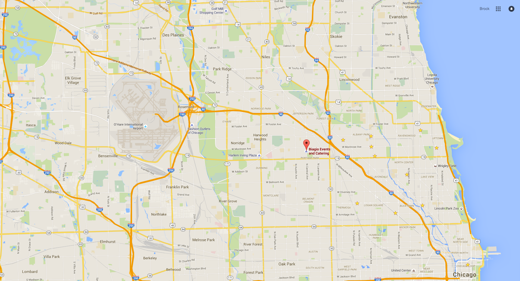 Chicago Arial Map