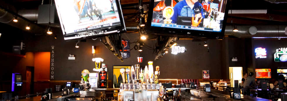 Real Time Sports Bar and Grill TVs in the Bar