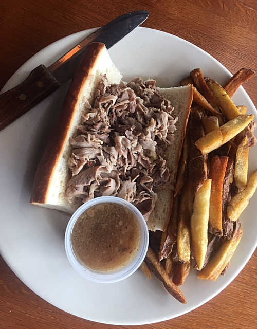 Prime Rib French Dip | Real Time Sports Bar and Grill