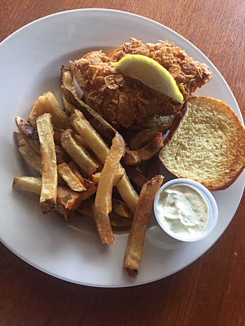 Crunchy Grouper Sandwich | Real Time Sports Bar and Grill