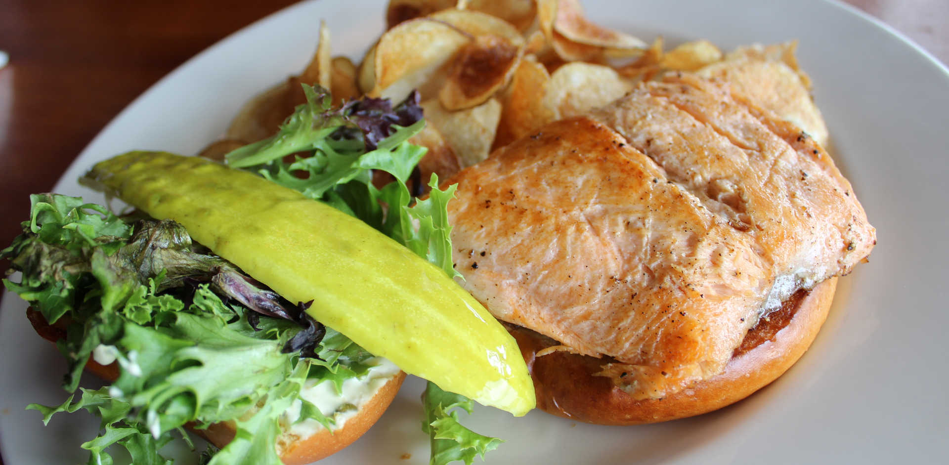 Salmon Sandwich | Real Time Sports Bar and Grill
