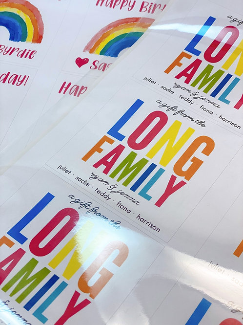 Family Gift Labels