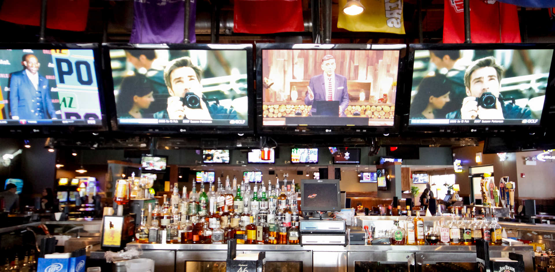 Real Time Sports Bar and Grill TVs and Bar view 2