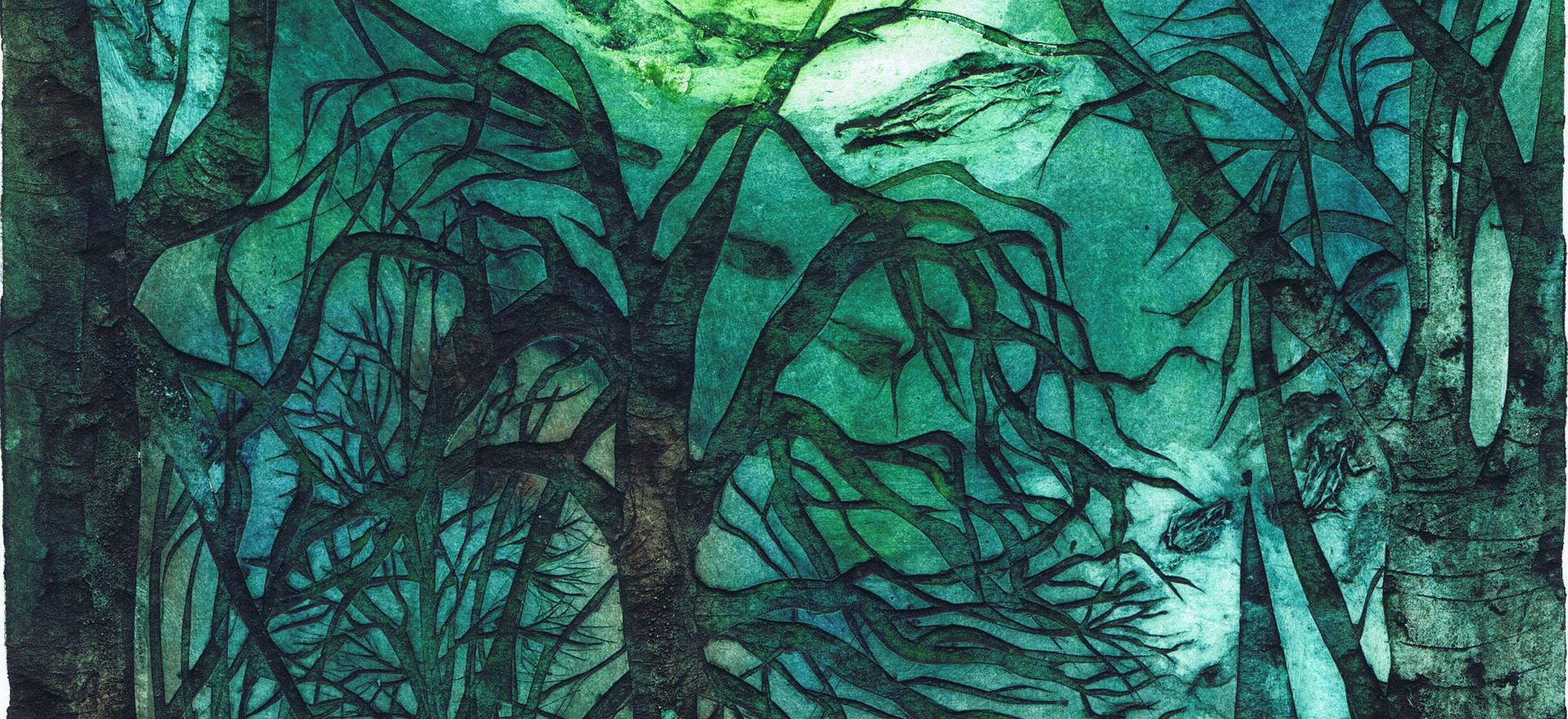 Moonlight Over Bangor Abbey by Alice Wya