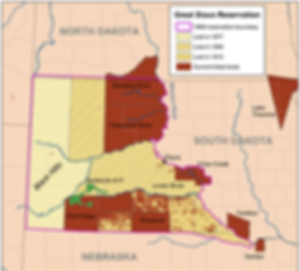 Great Siux Reservation Map