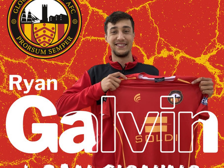 Welcome to Gloucester City, Ryan Galvin!