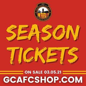 Season Tickets now on sale