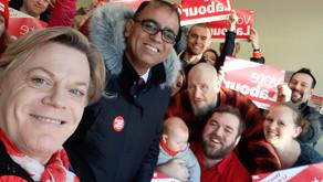 Bedford Labour welcomes Eddie Izzard